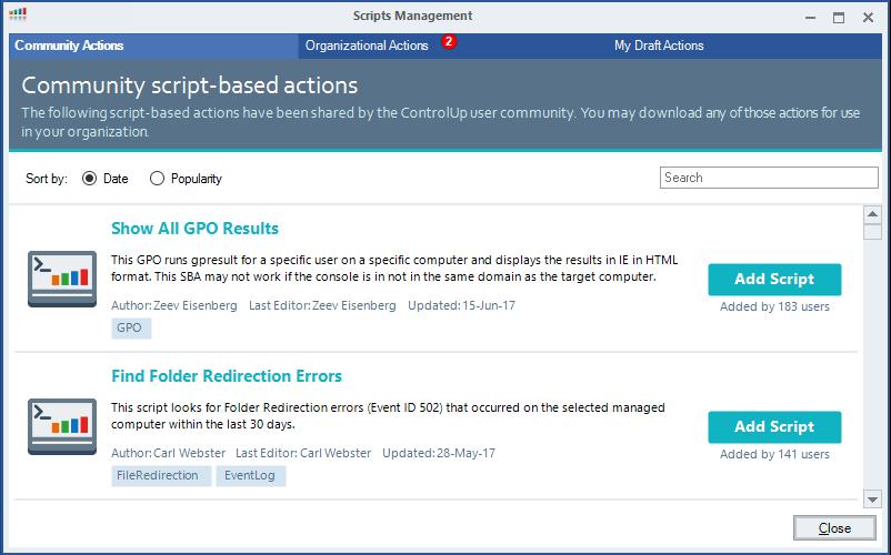 ScriptBasedActions