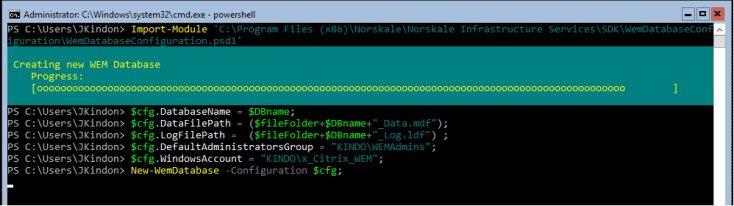 WEM_DBCreation_Powershell
