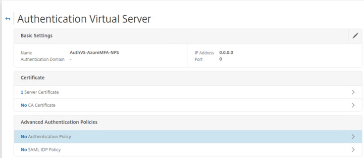 Azure MFA NPS Extensions with NetScaler nFactor
