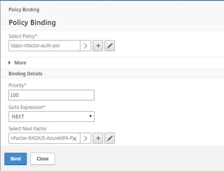 Azure MFA NPS Extensions with NetScaler nFactor Authentication