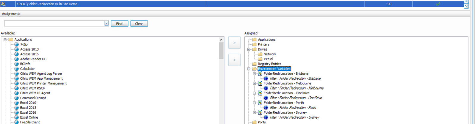 Multi Site and OneDrive Folder Redirection with WEM – James